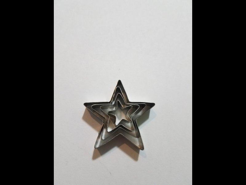 Estrellas x 4 -  4 - 3 - 2 -1cm.