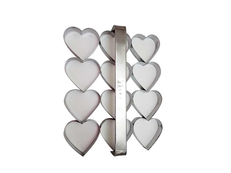 Placa cortante corazón n° 6 por 12 unidades
