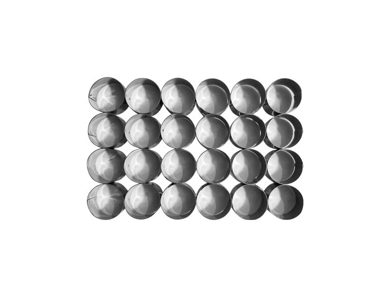 Placa cortante redonda n° 3 por 24 unidades (sin manija)