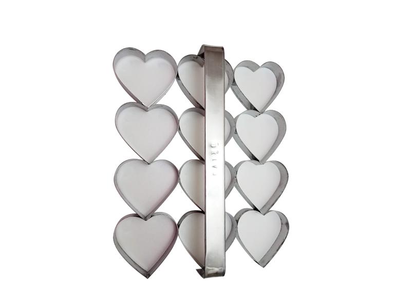 Placa cortante corazón n° 5 por 12 unidades