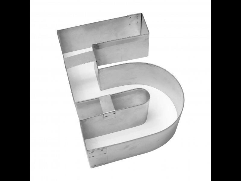 Aro de Hojalata Numero Cinco de 28 cm cm