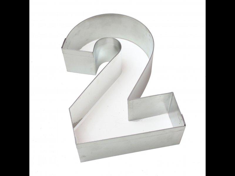 Aro de Hojalata Numero Dos 28 cm
