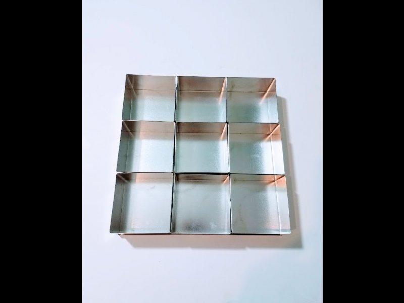 Set de Mini Tortas Cuadrado 8 cm