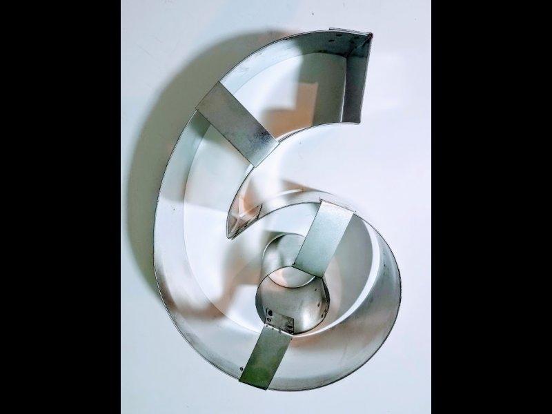 Aro de Hojalata Numero 6 (o 9) 28 cm